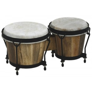 "Gewa Club Salsa Bongo 6"" & 7"" - In legno a doghe - Accordabile - Hardware Nero"