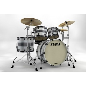 Tama Starclassic Maple MP42ZBNS-SSR - Colore - Silver Snow Racing Stripe (4 Fusti)