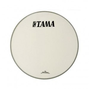 "Tama CT24BMOT - Pelle Risonante Grancassa 24"" - Bianca con logo nero grande Tama"