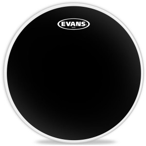"Evans B10ONX2 - Onyx black Coated - Pelle nera opaca sabbiata doppio strato 10"""