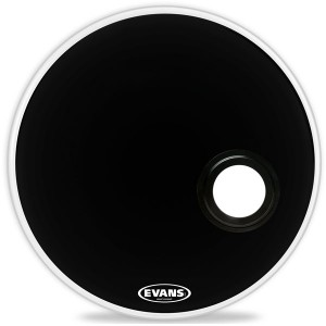 "Evans BD24REMAD - EMAD Resonant Black  (Risonante Nera con Foro  5"") 24"""
