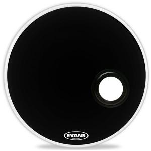 """Evans BD24REMAD - EMAD Resonant Black  (Risonante Nera con Foro  5"""") 24"""""""