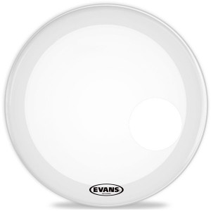 "Evans BD24RGCW - EQ3 Resonant Coated White Bass Drum 24"" - Bianca Risonante - Con foro 5"""