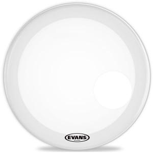 "Evans BD24RGCW - EQ3 Resonant Coated White Bass Drum 24"" - Bianca Risonante - Con foro 5"""
