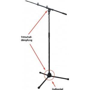 BSX Stand Microfono - Per piatti o tom Altezza  90 cm - 160 cm