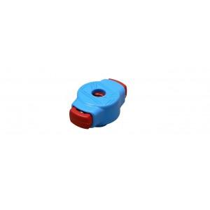 Tama QC8 - Blocca piatti a molla rapido con passo 8 mm (Azzurro e Rosso)