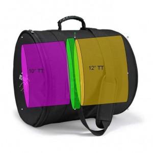 "Tama DBT1012H - Custodia Deluxe - Per 2 tom Hyper-Drive 10"" x  6""1/2   +  12"" x 7"""