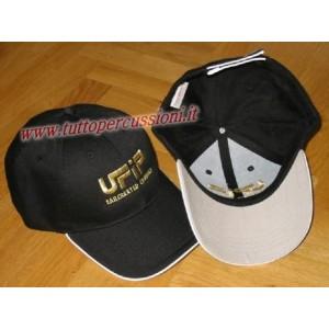 Ufip cappello nero con visiera - Con logo oro