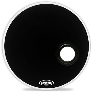 """Evans BD22REMAD - EMAD Resonant Black (Risonante Nera con Foro 4"""") 22"""""""