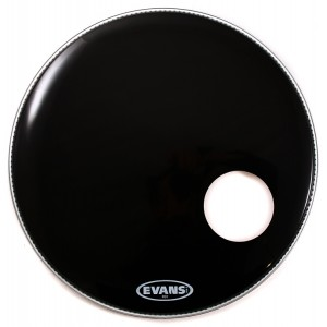 "Evans BD22RB – EQ3 Resonant  Black (Risonante Nera con Foro 5"") 22"""