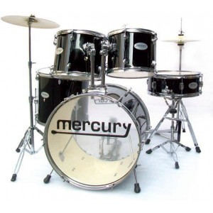 MERCURY DB54-196-BK  - Drum Set 5 pezzi + Meccaniche e Piatti