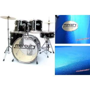 MERCURY DB54-196-BL - Drum Set 5 pezzi + Meccaniche e Piatti