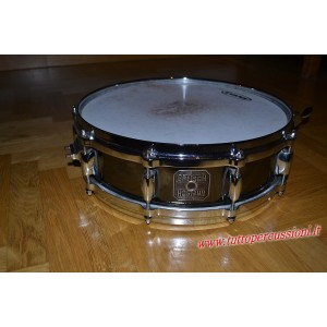 "Gretsch S-0414-SBS - Rullante Crystal Tone Black Chrome Steel Snare - 10 tiranti - Cerchi in lega 14""x 4"""