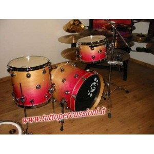 DRUM SOUND EVOLUTION Set Jazz Master Kit colore Natural to Fuxia Fade (3 fusti)