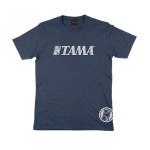 Tama t-shirt XL - Blu logo grigio