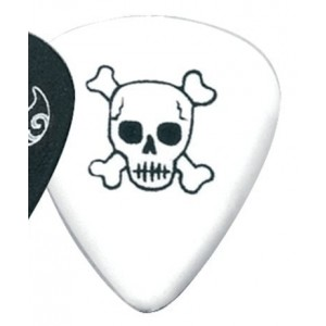 Gewa Plettro Fire&Stone Monster Picks Forma 351 Teschio, Bianco