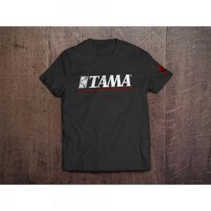 TAMA T−SHIRT LOGO BK/RED TG. S