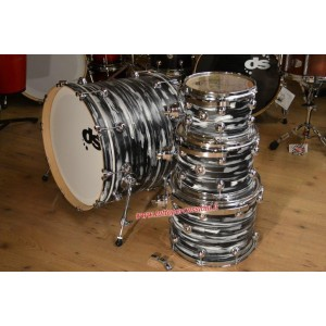 DRUM SOUND EVOLUTION Set colore Urban - Black / Grey White (4 fusti)