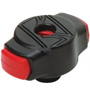 Tama QC8 - Blocca piatti a molla rapido con passo 8 mm (Nero Rosso)